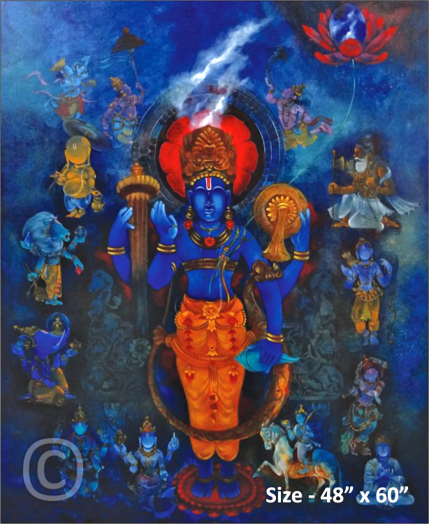 Vishni Dasha Avatar - Painting