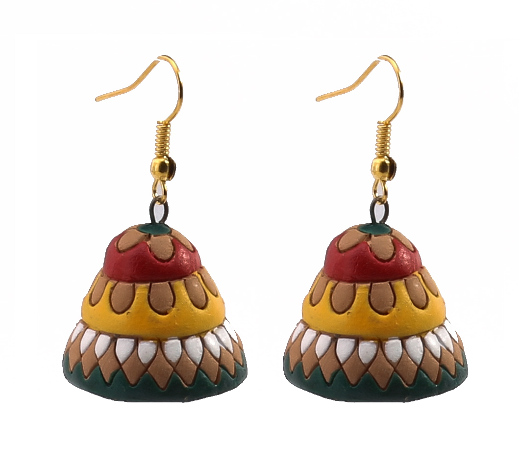 Terracotta Colorful Bell Earring