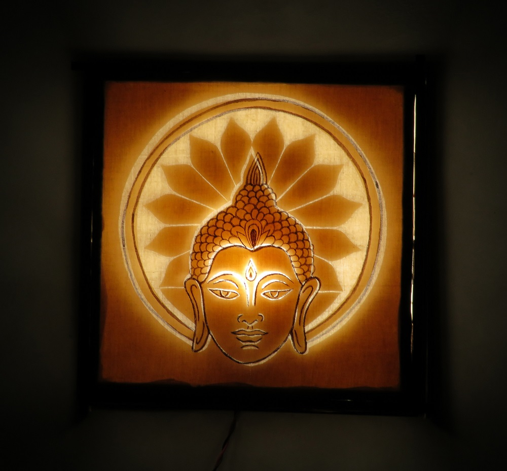 Twaksati Handmade Buddha Enlightenment Wall lamp, Night lamp Home Decor