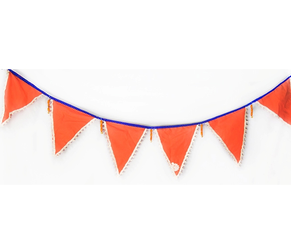 Orange Festive Bunting Flags -Door