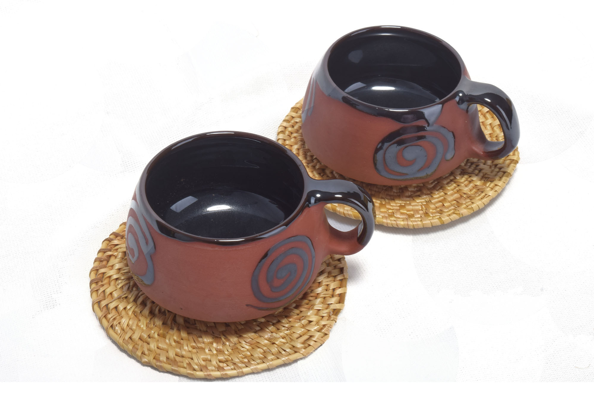 Terracotta Cup and coaster twin