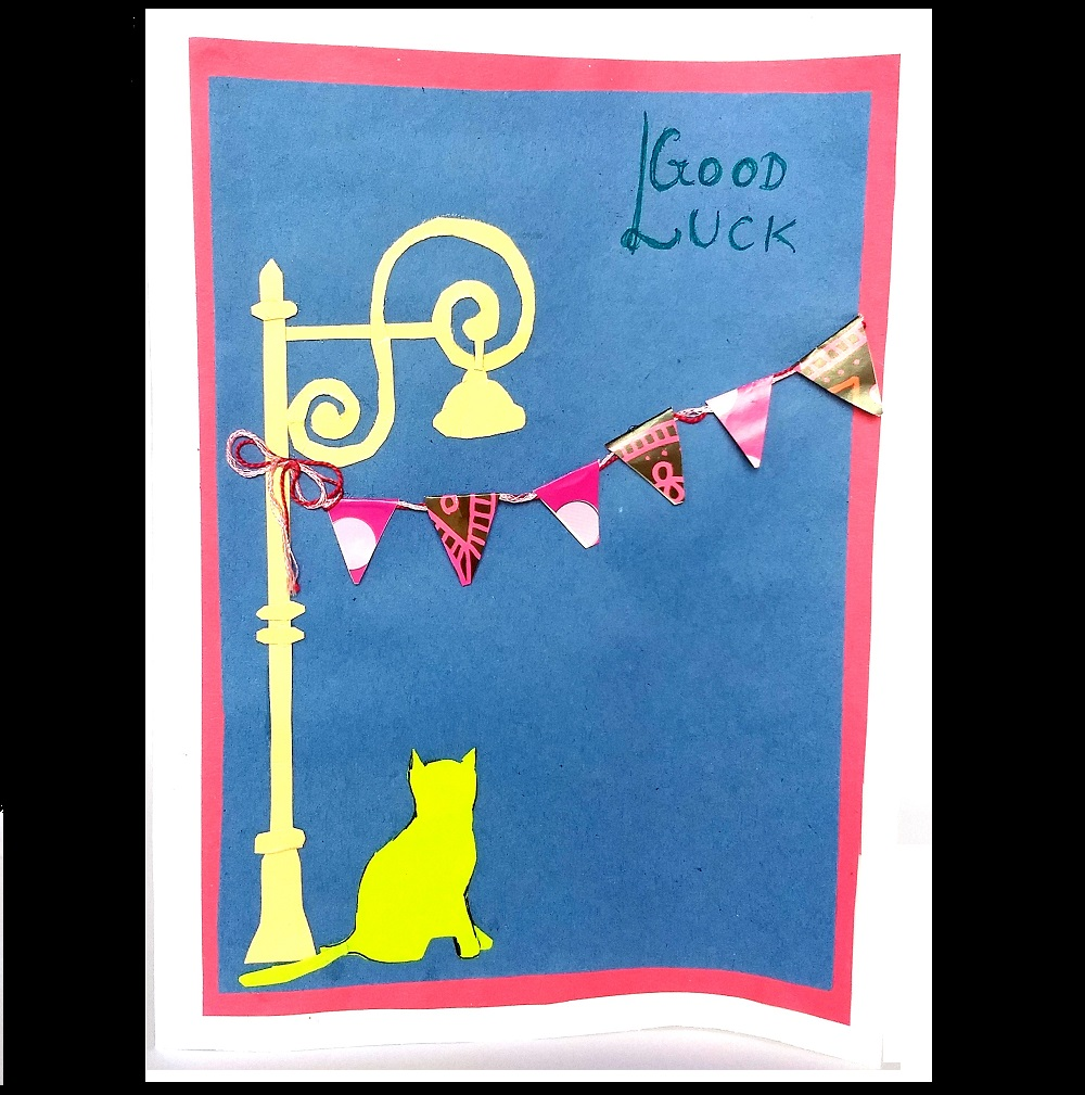 Handmade Good Luck Bunting Greeting Card