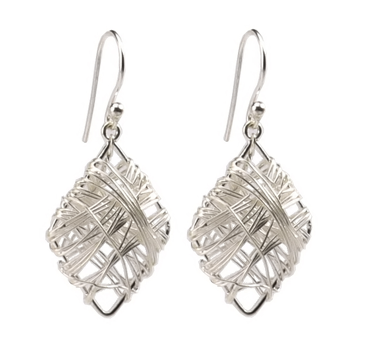 Twaksati Silver Thread Earring