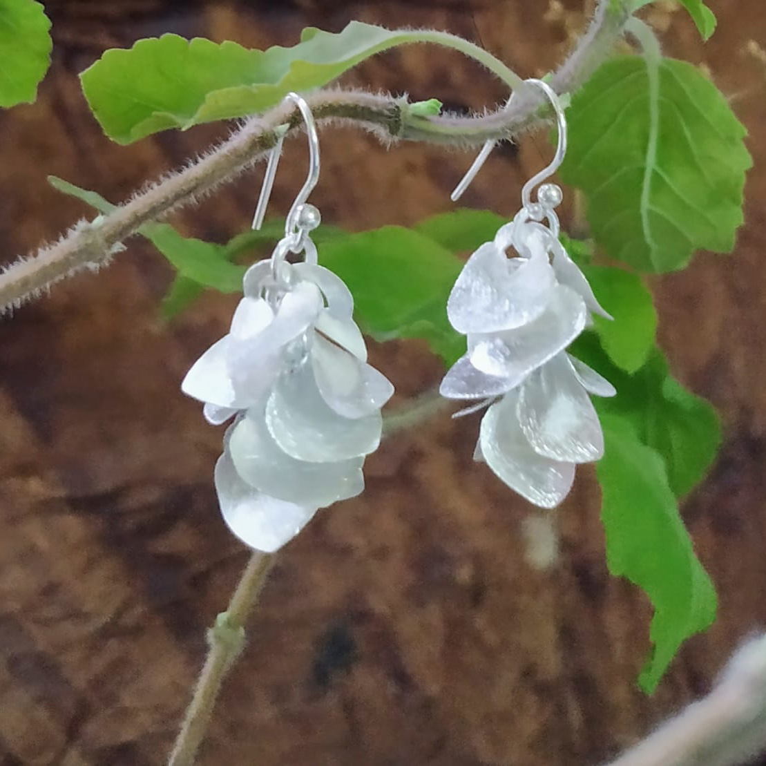 TWAKSATI SILVER BELL PETALS EARRINGS